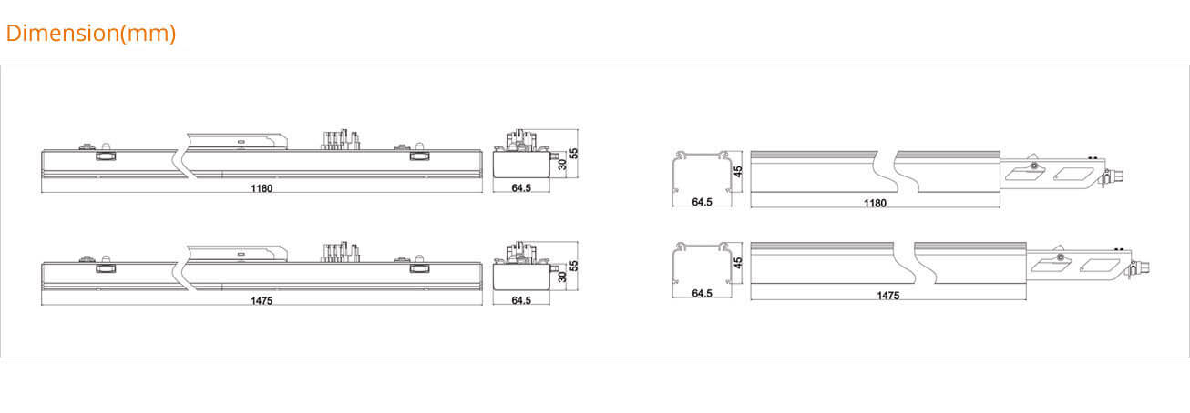 Product Dimension - T28 Liner Trunking System